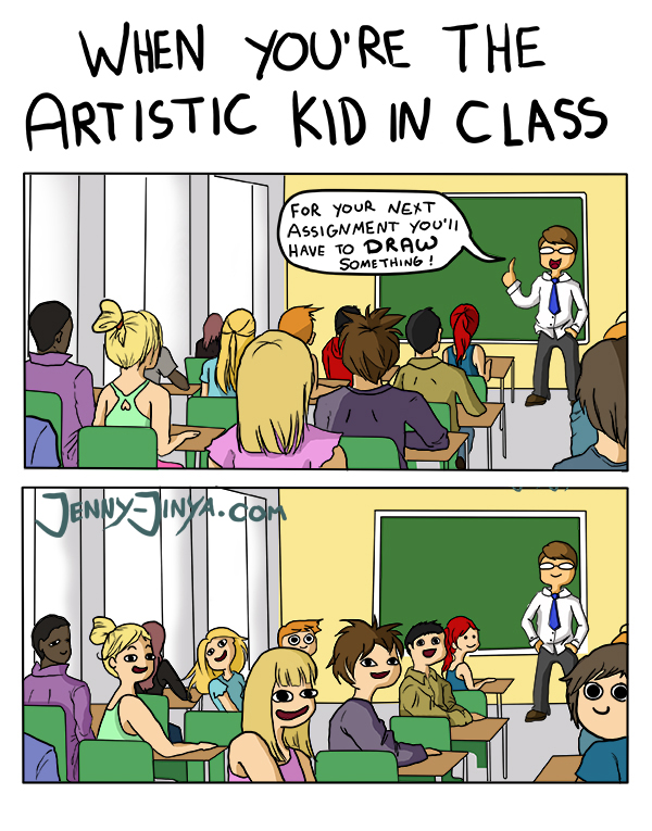 webcomic Artistic kid
